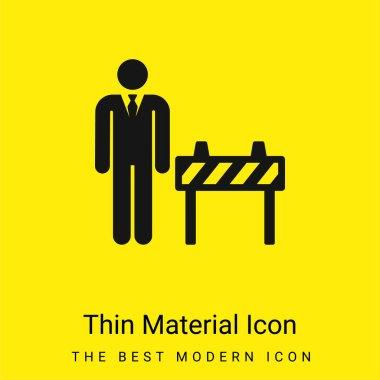 Boss minimal bright yellow material icon stock vector
