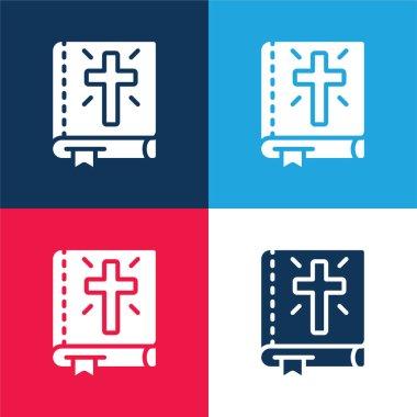 İncil mavi ve kırmızı dört renk en küçük simge kümesi