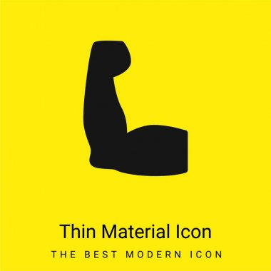 Biceps minimal bright yellow material icon stock vector