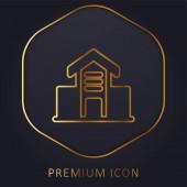 Architektur Gebäude goldene Linie Premium-Logo oder Symbol