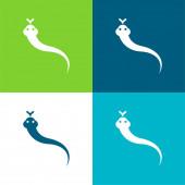Animal Flat négy szín minimális ikon készlet