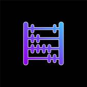 Vektorová ikona Abacus blue gradient