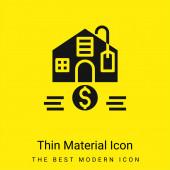 Cenově dostupná minimální jasně žlutá ikona materiálu