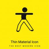 Chlapec Stretching Body minimální jasně žlutý materiál ikona