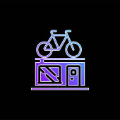 Bike Shop modrý gradient ikona