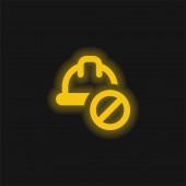 Verbotene gelbe Leuchtneonsymbole