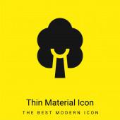 Birke minimal leuchtend gelbes Material Symbol