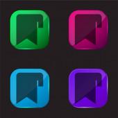 Ikona tlačítka záložky čtyři barvy