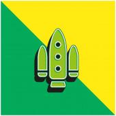 Apolo Projekt Zelené a žluté moderní 3D vektorové logo