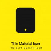 Zpět Ipad minimální jasně žlutý materiál ikona