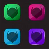 Absztrakt Alak négy színű üveg gomb ikon