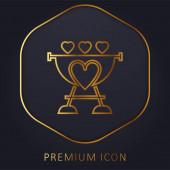 Logo nebo ikona prémie zlaté čáry grilu