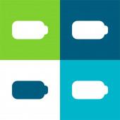 Batterieflache vier Farben minimales Symbol-Set