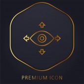 360 Tekintse arany vonal prémium logó vagy ikon