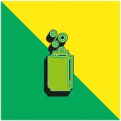 Sörösdoboz Zöld és sárga modern 3D vektor ikon logó