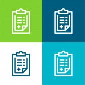 Admision Form Flache vier Farben minimales Symbol-Set