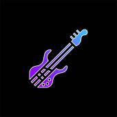 Basszusgitár kék gradiens vektor ikon
