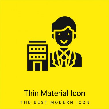 Agent minimal bright yellow material icon stock vector