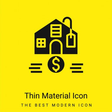Affordable minimal bright yellow material icon stock vector