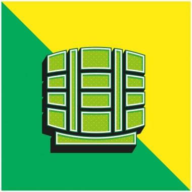 Beer Keg Green and yellow modern 3d vector icon logo stock vector