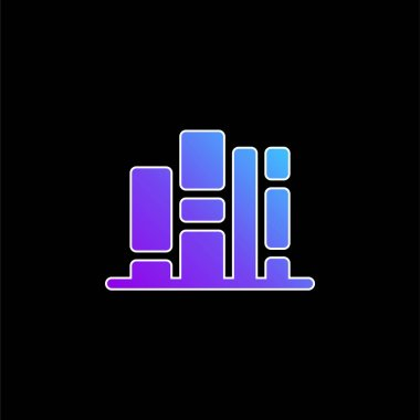 Bookshelf blue gradient vector icon stock vector