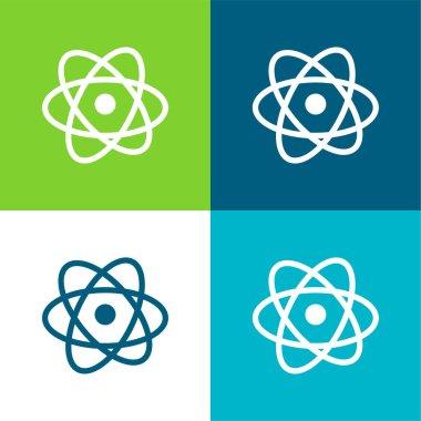 Atom Düz 4 renk en küçük simge kümesi