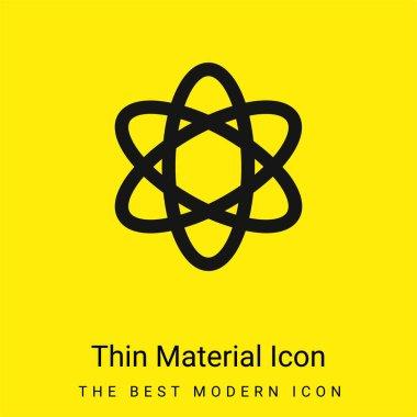 Atom Şekli. Bilim en az parlak sarı madde simgesi