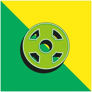 Beach Float Green and yellow modern 3d vector icon logo stock vector