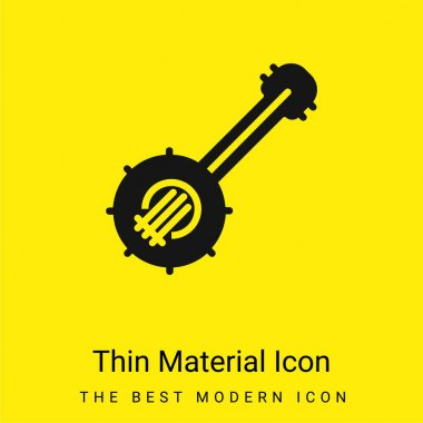Banjo minimal bright yellow material icon stock vector
