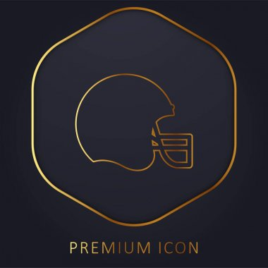 American Football golden line premium logo or icon stock vector