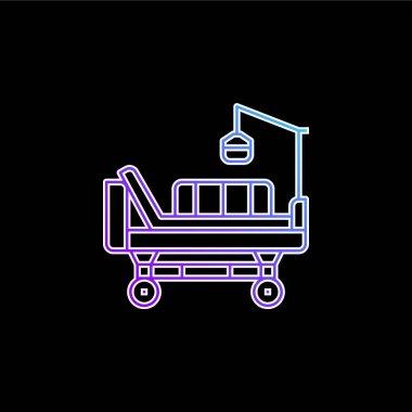 Bed blue gradient vector icon stock vector