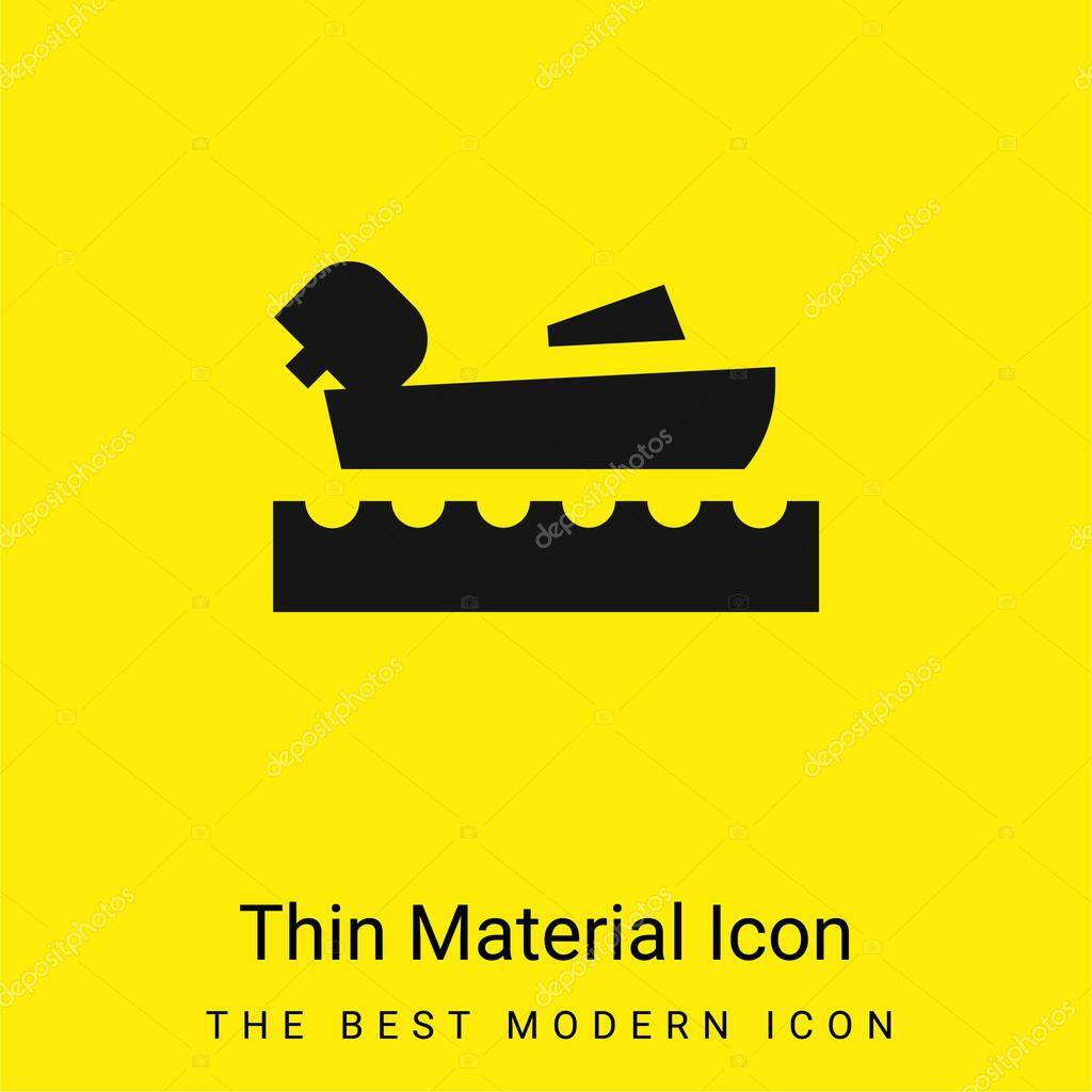 Nautica icona minimale materiale giallo brillante