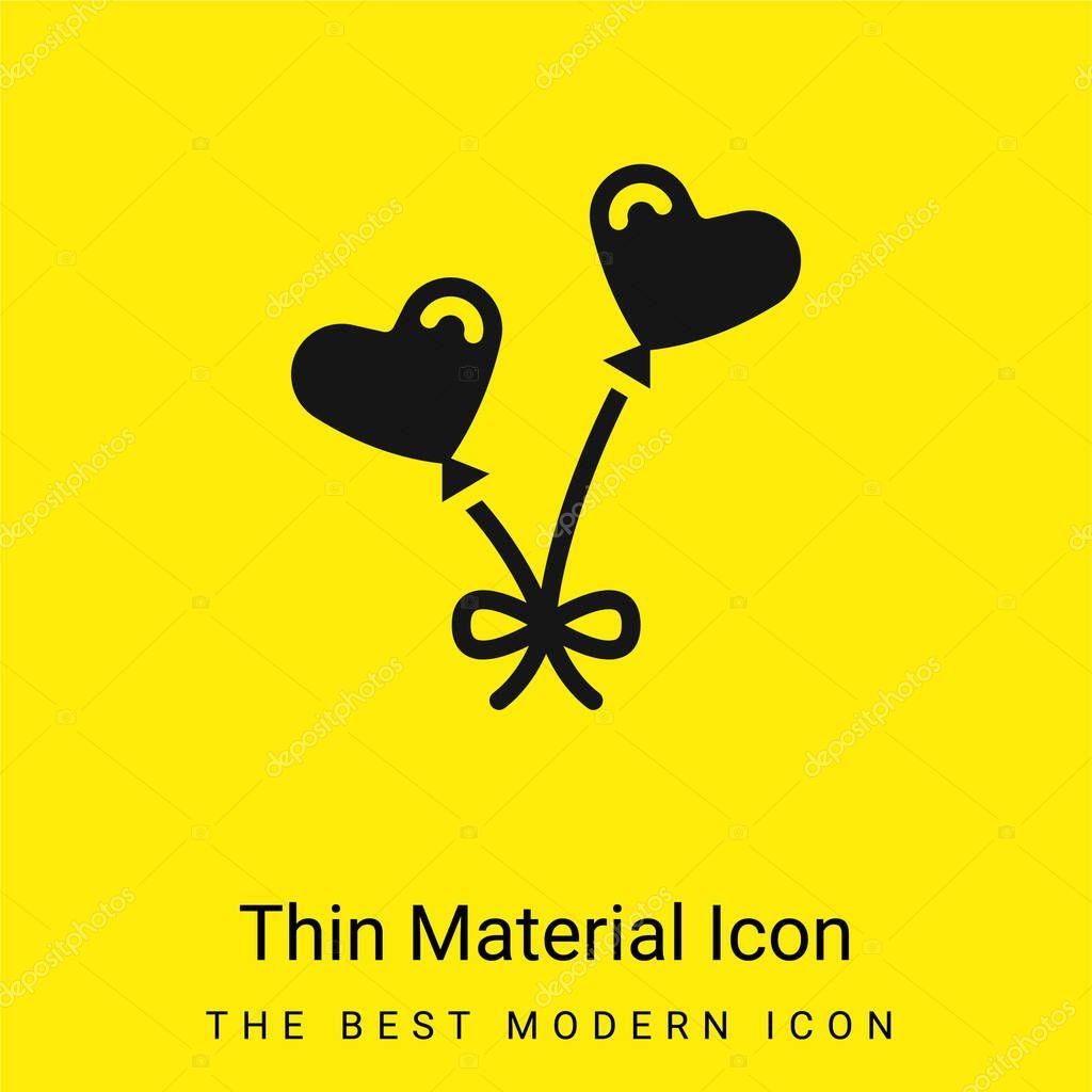 Balloons minimal bright yellow material icon stock vector