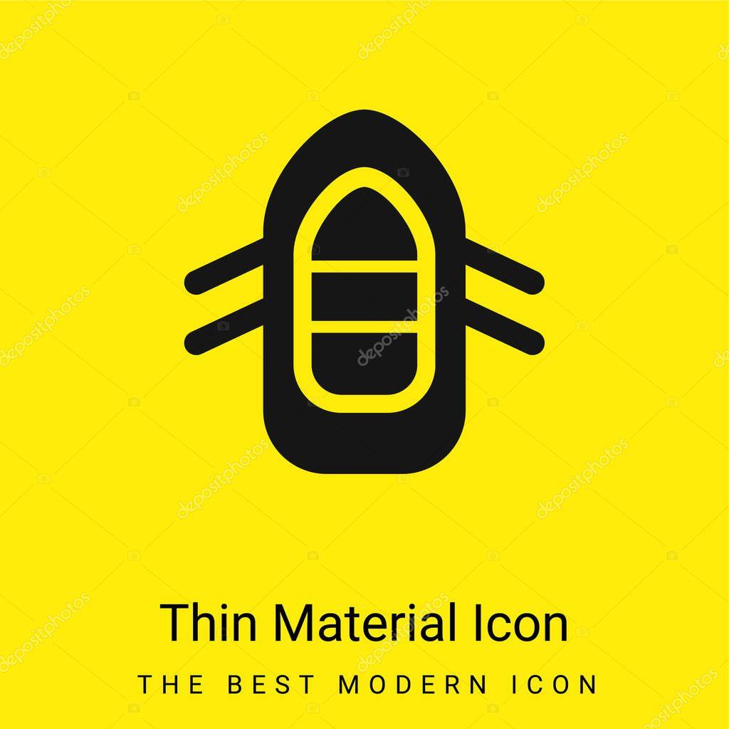 Boiting icona materiale giallo brillante minimo