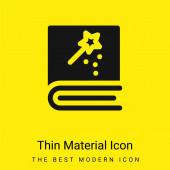 Rezervujte minimální jasně žlutou ikonu materiálu