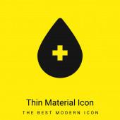 Krev minimální jasně žlutý materiál ikona