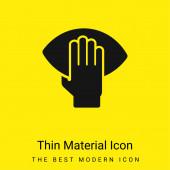 American Football Player Hand Holding A labda minimális fényes sárga anyag ikon