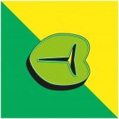 Hovězí steak Zelená a žlutá moderní 3D vektorové logo ikony