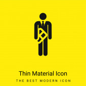 Narozeniny minimální jasně žlutý materiál ikona