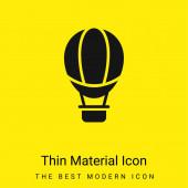 Léggömb minimális fényes sárga anyag ikon
