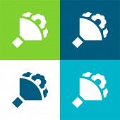 Kytice Byt čtyři barvy minimální ikona nastavena