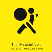 Airbag - minimální jasně žlutá ikona materiálu