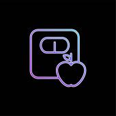 Apple A Měřítko Obrysy modrý vektor přechodu