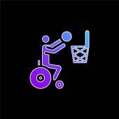 Basketball-blaues Gradienten-Vektor-Symbol