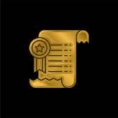 Vereinbarung vergoldet metallisches Symbol oder Logo-Vektor
