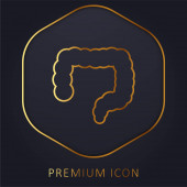 Big Intestines goldene Linie Premium-Logo oder Symbol