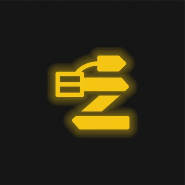 Belt yellow glowing neon icon stock vector