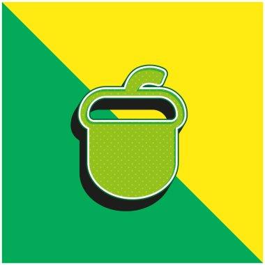 Acorn Green and yellow modern 3d vector icon logo stock vector