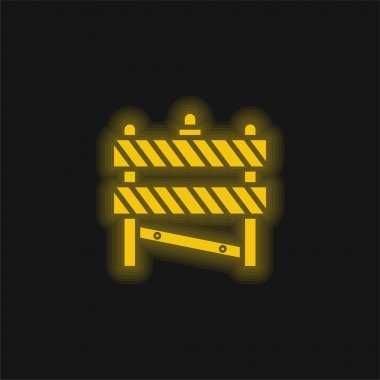 Barrier yellow glowing neon icon stock vector