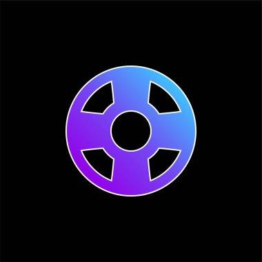 Beach Float blue gradient vector icon stock vector